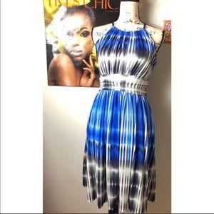 Maggy London Starburst Halter Dress Size 2